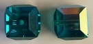8mm Cube Bead Blue Zircon AB