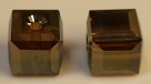 8mm Cube Bead Bronze Shade 2X