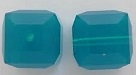 8mm Cube Bead Caribbean Blue Opal