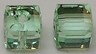 8mm Cube Bead Chrysolite