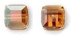 8mm Cube Bead Crystal Copper