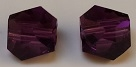 6mm Graphic Cube Amethyst
