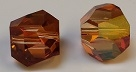 8mm Graphic Cube Crystal Copper