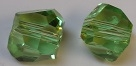 8mm Graphic Cube Peridot