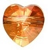 10mm Heart Bead Crystal Copper