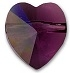 8mm Heart Bead Amethyst