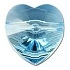 8mm Heart Bead Aquamarine