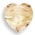 8mm Heart Bead Golden Shadow
