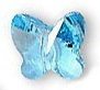 Swarovski 5mm Butterfly Bead Aquamarine