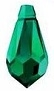 11.5 x 5.5mm Pendant Emerald AB