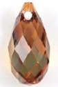 11 x 5.5mm Briolette Pendant Crystal Copper