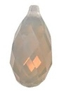 11 x 5.5mm Briolette Pendant Light Grey Opal
