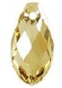 13 x 6.5mm Briolette Pendant Golden Shadow