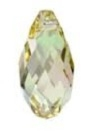 13 x 6.5mm Briolette Pendant Luminous Green
