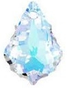 22 x 15mm Baroque/Fancy Pendant Crystal AB