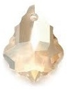 22 x 15mm Baroque/Fancy Pendant Golden Shadow