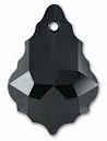 22 x 15mm Baroque/Fancy Pendant Jet
