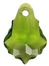 22 x 15mm Baroque/Fancy Pendant Olivine