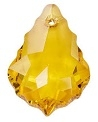 22 x 15mm Baroque/Fancy Pendant Topaz