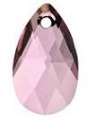 16mm Teardrop Pendant Antique Pink