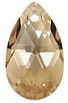 16mm Teardrop Pendant Golden Shadow