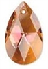 22mm Teardrop Pendant Crystal Copper