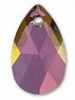 22mm Teardrop Pendant Lilac Shadow