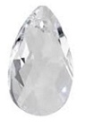 28mm Teardrop Pendant Crystal