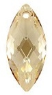 40 x 18mm Navette Pendant Golden Shadow