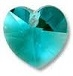 10mm Heart Pendant Blue Zircon