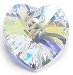 10mm Heart Pendant Crystal AB