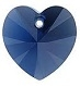 10mm Heart Pendant Dark Indigo