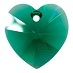 10mm Heart Pendant Emerald