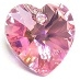 10mm Heart Pendant Rose AB