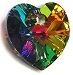 10mm Heart Pendant Vitrail Medium