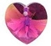 18mm Heart Pendant Fuchsia AB