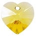 18mm Heart Pendant Light Topaz