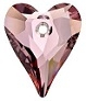 27mm Wild Heart Pendant Antique Pink