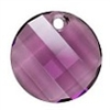 18mm Twisted Pendant Amethyst
