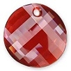18mm Twisted Pendant Red Magma