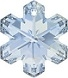25mm Snowflake Pendant Blue Shade
