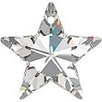 40mm Star Pendant Crystal