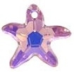 16mm Starfish Pendant Light Amethyst AB