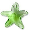 16mm Starfish Pendant Peridot