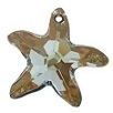 28mm Starfish Pendant Bronze Shade