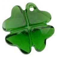 28mm Clover Pendant- Dark Moss Green