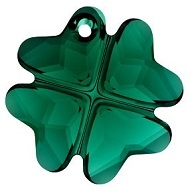 28mm Clover Pendant- Emerald