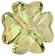 28mm Clover Pendant- Luminous Green