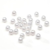 18mm Smooth Round-WHITE PEARL