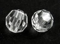 Round Faceted Acrylic Beads